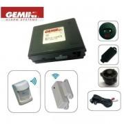ALARME SPECIALE CAMPING CAR 2 TELECOMMANDES AUTOALIMENTEE MODULAIRE 12V GEMINI