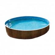 Lagoon Deluxe kerek medence, 360x110 cm-es méretben, homokszűrővel, vastagított belső fóliával