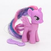 My Little Pony Toys Rainbow Power Rainbow Dash Pinkie Pie Lyra Heartstring Rarity PVC Action Figure Toy 8cm