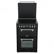 Stoves 600E Black Ceramic Electric Cooker with Double Oven