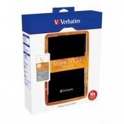 Verbatim 2,5\-os HDD 1TB Fekete, USB 3.0 csatlakozás