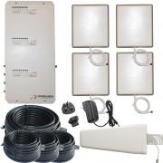 Stella Doradus - Booster / répéteur / amplificateur Tri-Band GSM 900 / GSM 1800 / 3G 2100 / 4G 1800 + 4 antennes internes - 4000m ²