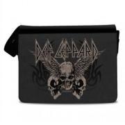 Def Leppard - Flying Skulls Messenger Bag, Messenger Shoulder Bag