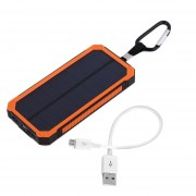 ER 300000MAH Waterproof Solar Power External Power Bank With LED Light For Mobile Phones With Cable For IPhone For Samsung-orange