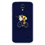 Husa silicon pentru Allview A5 Smiley ET Riding Bike Funny Illustration