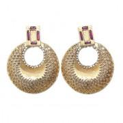 Indian Style Beaded Dangle Drop Fashionable Earrings Traditional Jhumka Jhumki Earrings for Women 22 PURPLE