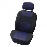 Carpoint Jeu de housse de siège pour 'Classic' en 4 parties noir / bleu 0310405