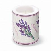 P.W.ADL120103 Lavender for You átvilágítós gyertya 10x12cm