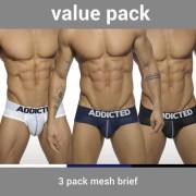 Addicted [3 Pack] Mesh Push Up Brief Underwear AD475P