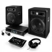 Electronic-Star Auna Vegas Jet Set Sistema de sonido 2.1 Altavoces, subwoofer, mesa mezclas (1200-Watt)