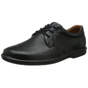 Clarks Men's Butleigh Edge Black Leather Sneakers - 7 UK/India (41 EU)