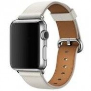 Apple watch classic lederen band 42/44 mm - Wit