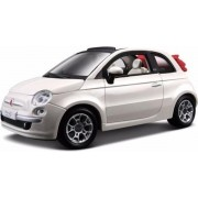 Modelauto Fiat 500 cabrio wit 1:24 - speelgoed auto
