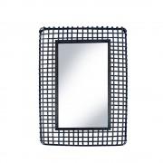 RedCartel Jepara - Miroir en rotin - Couleur - Noir