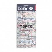 Hűtőmágnes, Tokio metró térkép