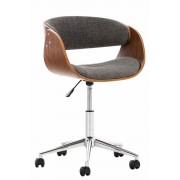 Sedia vintage ufficio PORTMORE in tessuto, grigio chiaro CLP, grigio chiaro, altezza seduta