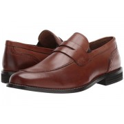 Nunn Bush Strata Moc Toe Dress Casual Penny Loafer Dress Cognac