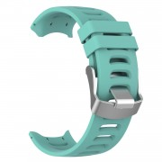 Silicone Watch Strap Replacement Wristband for Garmin Forerunner 610 - Cyan
