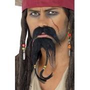 Smiffy%27s Smiffy's Pirate Facial Hair Set Moustache and Beard - Black