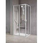 Novellini Cabine de douche dissimulée avec 2 côtés gratuits pliables 2A 65x70 - argent - C