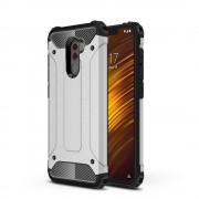 Hibrid Armor telefon tok hátlap tok Ütésálló Robusztus hátlap tok telefon tok Xiaomi Pocophone F1 ezüst