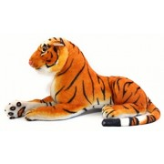 Cute Sitting Tiger Animal Stuffed Soft Plush Toy with Strong Hard Head, Home Decor, Cuddle for Kids 34 cm