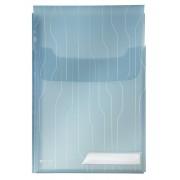 Mapa LEITZ Combi File Jumbo, cu burduf si eticheta, 3 buc/set - transparent albastru