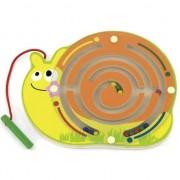 Labirint magnetic cu bile Melc, Viga Toys, multicolor