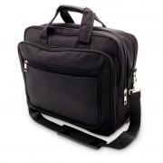 Merkloos Aktetas/laptoptas 15,6 inch zwart 20 liter