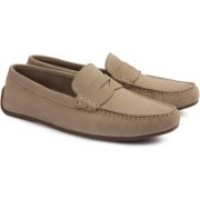 Clarks REAZOR DRIVE SAND NUBUCK Loafers For Men(Brown)