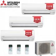 Mitsubishi Climatizzatore Condizionatore Mitsubishi Electric Trial Split Inverter Serie Msz-Dm 9+9+12 Con Mxz-3dm50va - New