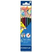Creioane colorate, 6 buc/set, STAEDTLER Noris
