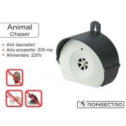 Animal Chaser - aparat cu ultrasunete pentru uz exterior impotriva soarecilor si rozatoarelor - 200 mp