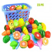 Role Play Kids Toys Kitchen Fruit Vegetable Food Toys For Children Cutting Set Pretend Funny Play Housework Educational Juguetes