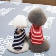 ELECTROPRIME Cotton Classic Stripe T-Shirt Vest Clothes for Pet Puppy Dog Cat Red (XL)