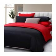 Cubre Plumon Bicolor Negro / Rojo