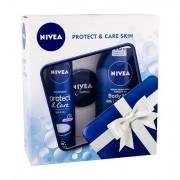 Nivea Body Milk confezione regalo lozione per il corpo 250 ml+ antiperspirantee Protect & cura 48H 150 ml + crema universale 30 ml