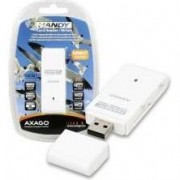 Card reader Axagon CRE-D4, USB 2.0, 4 in 1, SD, microSD, MS, M2, Alb