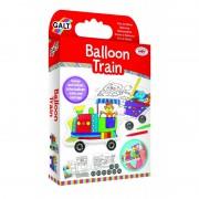 Set creativ pentru copii Galt Trenulet gonflabil, dezvolta motricitatea fina