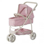 Olivia's Little World Polka Dots Princess 2-in-1 Baby Doll Stroller Pink/Gray, Doll Pram