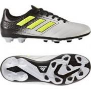 Ghete fotbal teren natural Adidas Junior ACE 17.4 S77098 alb/negru 33 1/2