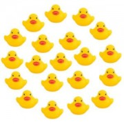 ELECTROPRIME 20pcs Baby Kids Bath Bathing Toys Yellow Cute Rubber Race Squeaky Duck Ducky