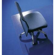 ecogrip Bodenschutzmatte aus Recycling-Polycarbonat für Teppichböden Form abgerundet, BxT 1500 x 1200 mm