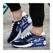 Zapatos Hombres Casuales Calzado Deportivo Respirable Corrientes De Aire Camuflaje - Azul
