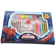 Hmi Disney & Marvel Art Stationery Set In Mickey Mouse, Cinderella, Avengers, Spider-Man And Princess Characters, 30 Pieces, Multi Color (Spider-Man)