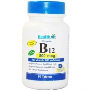 Healthvit Vitamin B12 500mcg For Vitamin B12 Deficiency 60 Tablets
