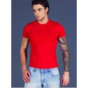 Sis Комфортная мужская футболка из хлопка красного цвета Sis B21r02