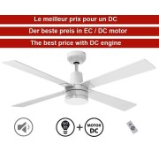 KlassFan Electra By Klassfan Limited Dc Ceiling Fans Designer Series, More Compact, Ultra Powerful, With Led Lighting System