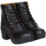 Clymb Boot 1 Black Leather Ankle Boots For Women's In Various Sizes