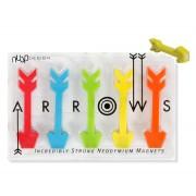 Magneti ULTRAPOTENTI a forma di freccia - set da 5 pezzi - Nuop Design